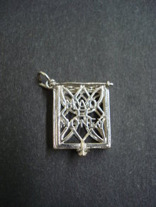 Vintage  Sterling Silver Pendant Mad Money Box