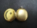 Charming Victorian Gold Locket - Seed Pearls - Round