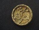 Special Antique Button Metal Gold Tone Art Nouveau Style