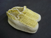 Beautiful Antique Crochet Dolls or Baby Shoes - Ivory