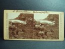 Antique Stereo-Scopic Card Iceland - Horseback Travel - Rugged Area
