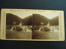 Stereo-Scopic Card Iceland - Horseback Travel - Rugged Area