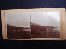 Stereo-Scopic Card Iceland - Fishing Village Iceland