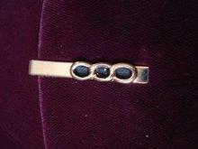 Deco Style Tie Clip Gold Tone