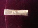 Vintage Tie Clip - Gold Tone - Monogram R