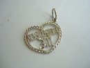 Sterling Pendant - Heart Shape - Remember Me