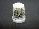 Vintage Porcelain Thimble Styracosaurus