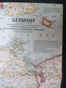 1959  Map of  Germany   Atlas Plate 35