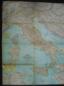 1961  Map of  Italy   Atlas Plate 37
