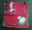 Handkerchief by Hazel Ware - Kitty Cats
