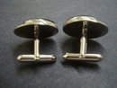 Vintage Cuff Links- Silver Tone Deco Style