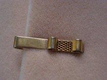 Vintage Tie Clip - Gold Tone - Deco Style