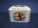 Hinged Vintage Tea Caddy Tin Box