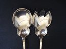 Antique Salad Serving Silver Set - 2 pc