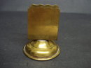 Antique Match Holder - Pedestal Brass Holder