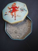 Antique Toffee Tin Box - A S Wilkin - England