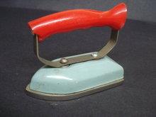 Antique toy iron - Bakelite handle
