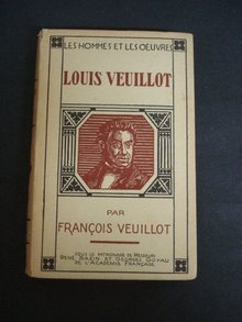 1927 Book Louis Veuillot Pages Choisies by Francois Veuillot