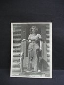 Antique Real Photo - Young Girl - Big Fish