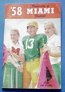 1958 U of Miami Football Press Radio TV Guide