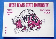 W.TEXAS STATE FOOTBALL MEDIA GUIDE 1966