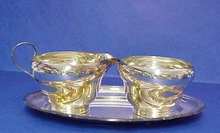 3 pc. Silver Creamer,Sugar&Tray