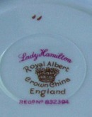 Royal Albert Cup & Saucer Lady Hamilton