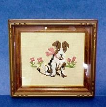 Marvelous Vintage Framed Needlework Picture