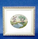 Antique Framed Petit Point Picture