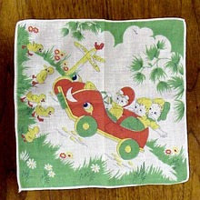 1950's Colorful Child's Hanky