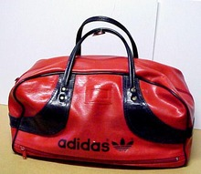 Lovely Vntg.ADIDAS Duffel Gym Bag Red/Blue
