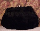 Lovely Vintage 1930's Soft Silky Black Fur Ladies Muff - Purse