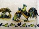 Tablecloth - Rustic Scene CHICKENS