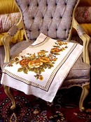 Lovely Vntg.Tablecloth - Orange Roses