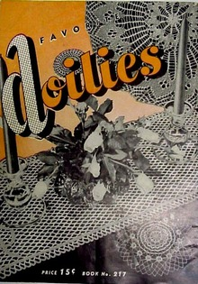 1945 Favorite Unique Doilies Crochey Book