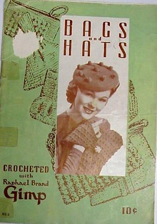 1939 Bags & Hats Crochet Book