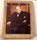 Vntg.Huntley-Palmers Tin Sir Winston Churchill
