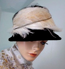 30 's Designer Black HAT / White
