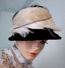 30 's Designer Black HAT / White
