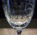 VICTORIAN 1899 Goblet Etched