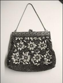 Vintage Evening Purse - Bag - Beaded