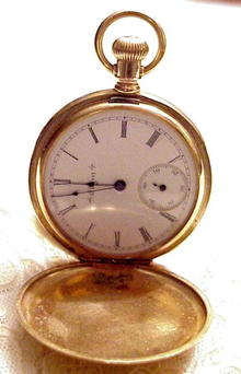 14k ELGIN Gold Hunter Style Pocket Watch
