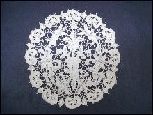 Victorian Maltese Lace Figural Doily