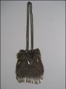 Antique Metalic Mesh Purse-Bag German Silver