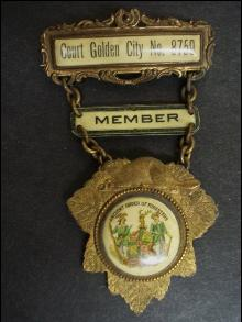 Ancient Order of Foresters Member Badge - Court Golden City No 8759
