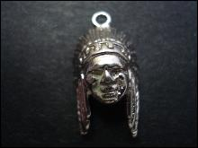 Sterling Charm North American Indian