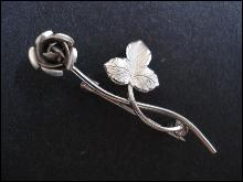 Elegant  Sterling Brooch Silver Rose by Bond Boyd