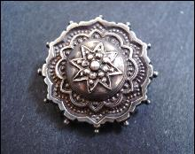 EXQUISITE Victorian Sterling Brooch - Great Detail