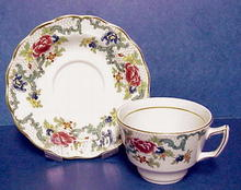 English Tea Cup & Saucer - FLORADORA