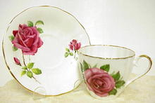 Superb Adderley Cup and  Saucer GORGEOUS ROSE